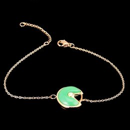 Wholesale price k - Priced direct selling lucky charms circle of round black and white and red, green, ms shell bracelet 18 k rose gold bracelet