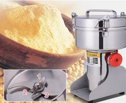 Wholesale Portable Milling - Multifunction Swing Type 2000g Portable Grinder Herb Flood Flour Pulverizer Food Mill Grinding Machine LLFA
