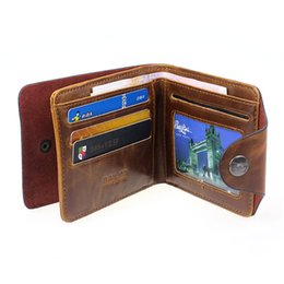 Wholesale Big Money Wallet Leather - Wholesale- Men Hasp Wallet PU Leather Purse Trifold Wallets For Man High Quality Big Capacity Credit Crad Holders Money Bag Cheap Vintage