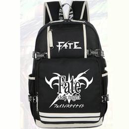 Wholesale Saber Fate Zero - Fate stay night backpack Saber zero daypack Unisex schoolbag Cartoon rucksack Sport school bag Outdoor day pack