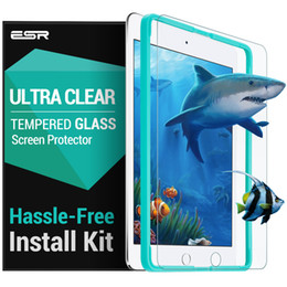 Wholesale Film Releases - Wholesale- Screen Protector for iPad 9.7 2017,ESR Tempered Glass Film with Free Applicator for New iPad 2017 release for iPad Air 2 Pro 9.7