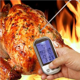 Wholesale Roasted Meats - Wireless Remote Digital Kitchen Thermometer For BBQ Grill Meat Oven Cooking LCD Display Roasting Automatic Monitor Timer DHL