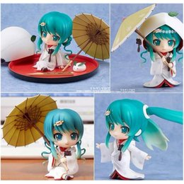 Wholesale Strawberry Figures - Anime Hatsune Miku Strawberry White Kimono Ver Figure figma toys good gift and collection anime toys figma
