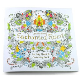 Wholesale Dreams Book - New 4 Designs Adult Coloring Books Secret Garden Animal Kingdom Fantasy Dream Enchanted Forest 24 Pages Kids Adult Painting Colouring Book