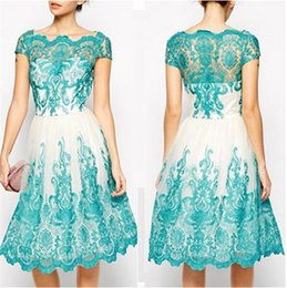 Wholesale Tight Lace Dress Sleeves - Wholesale-New Fashion sexy dress lace dresses perspective tight dress Casual Dresses women dress party dresses BA045