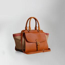 Blocco di colore della borsa online-Di alta qualità di lusso si addensano la borsa delle donne della pelle bovina Il colore di blocco di modo elegante disegna le borse a tracolla della spalla delle ali