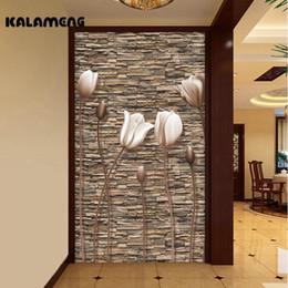 Wholesale Mediterranean Wall Paper - KALAMENG Custom 3D Wallpaper Design Retro Stereo Buds Photo Kitchen Bedroom Living Room Wall Murals Papel De Parede Para Quarto
