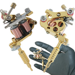 Wholesale Tattoo Gun Necklaces - MINI Tattoo Machine for Key chain or necklace coil stainless steel Tattoos Body Art Gun Makeup Tool