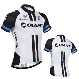 Wholesale Giant Shirts - Free Shipping team Giant bike jersey 100% polyester quick dry short sleeve pro cycling jersey Ropa Ciclismo MTB bicycle shirts
