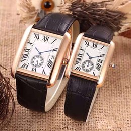 Wholesale Gold Belts For Men - High quality Fashion Top Brand Couple Luxury Watches Casual Dress lady men watch Rome Numbers Quartz Wristwatches for Men Women reloj clock