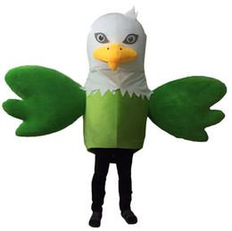 Wholesale Eagle Mascot Costume Cartoon - Green Eagle Mascot Costumes Cartoon Character Adult Sz 100% Real Picture