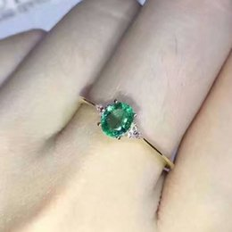 Wholesale Simple Ring Designs For Women - Simple design emerald wedding ring for woman 0.4 ct 3mm*5mm natural emerald silver ring solid 925 silvr emerald gemstone wedding ring