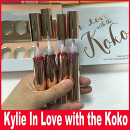 Wholesale Mixed Baby Dolls - 4PCS SET Kylie IN LOVE WITH THE KOKO Liquid Lipstick Koko Kollection Doll Sugar Plum Bunny Baby Girl