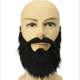 Wholesale Funny Adult Men Halloween Costumes - Wholesale-Fashion 1pc Funny Costume Party Male Man Halloween Beard Facial Hair Disguise Game Black Mustache Top Quality