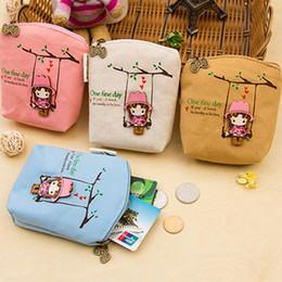 Wholesale Cute Zip Wallets - Wholesale- New Adorable Women Canvas Wallet Small Clutch Zip Card Coin Holder Purse Handbag For Cute Girls 9IEW