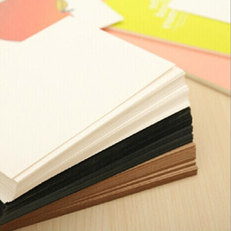 Wholesale Graffiti Papers - Wholesale-60pcs Lot Blank White Kraft Paper Postcards Vintage Blank Post Cards DIY Hand Painted Graffiti Card Message Card Drawing