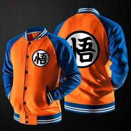 Wholesale Men S Varsity Jacket - New Anime Dragon Ball Goku Varsity Jacket Autumn Casual Sweatshirt Hoodie Coat Jacket Brand Baseball Jacket Wholesale sales