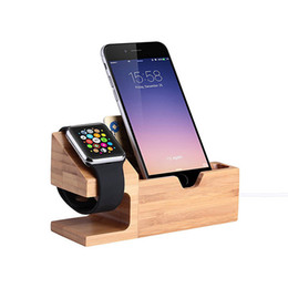 Wholesale Usb Charging System - Multi Function Charging Mobile Phone Stand 3 USB Ports Wood Phone Holder for Andriod and IOS system