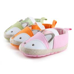 Wholesale Mary Soles - Wholesale- ROMIRUS Baby Shoes Newborn Girls Princess First Walkers Cute Cartoon Fox Mary Jane Soft Soled Anti-Slip Crib Pram Shoe