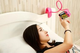 Wholesale Gooseneck Stand - Car Phone holder Universal Long Arm Lazy Mobile Phone Gooseneck Stand Holder Flexible Bed Desk Table Clip Bracket For iphone