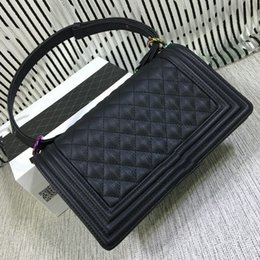 Wholesale Business Christmas Party - Dress Style Black Shoulder Bags Luxury Women High Quality Hard Leather Plaid Mini Flap Laday Bags 67086