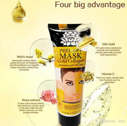 Wholesale Wholesale Lemon Oil - Gold Collagen Masks rose milk dead sea mud lemon peel off black mask remove blackheads shrink pores clean and relaxed clean pores