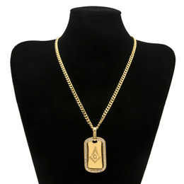 Wholesale Arc Link - 5mm Copper Cuban Chain AG Arc-shaped Gilded Masonic Dog Brand Stainless Steel Gold-plated Hip Hop Women Men Pendant Necklace Jewelry