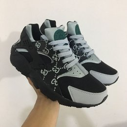 Wholesale Air Hard - 2017 Huarache ID Custom Breathe Running Shoes For Men Women,Woman Mens navy blue tan Air Huaraches Multicolor Sneakers Athletic Trainers