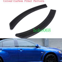 Fibra fender carbono on-line-2x muito para mitsubishi lancer evo car auto fender tiras decorativas padrão de fibra de carbono diy