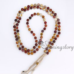 Wholesale Wholesale Mala Prayer Beads - 108 tibetan prayer beads mala bead necklace buddhist prayer beads bracelet long tassel necklace healing beads wholesale