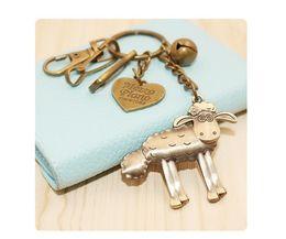 Wholesale Men Intelligence - New Creative bronze Keychain Retro Keychain DIY Intelligence Key Chain Ring Boys&Girls Birthday Key Dolls Gifts Key Holder