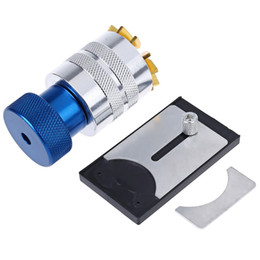 Wholesale Aluminum Lifts - Wholesale- Brass Aluminum Watch Crystal Glass Lift Remover Repair Tool Plastic Crystal Lift Front Case Base Remover Inserter Repair Tool