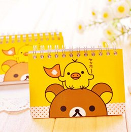 Wholesale Promotional Book - Wholesale- D33 Kawaii Rilakkuma Portable Small Notebook Notepad Stationery School Office Supply Student Promotional Gift Planner Book