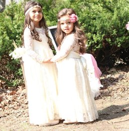 Wholesale Wholesale Wedding Gowns Sleeves - Baby Clothing Baby Girls Lace tutu Dresses Kids Girls Princess Long sleeve Dress Babies Autumn Wedding Party Dress 2017 Kids clothes