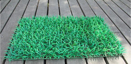 Wholesale Turf Grass Carpet - Free Shipping Artificial Turf Carpet Simulation Plastic Boxwood Grass Mat 60cm*40cm Green Lawn For Home Garden Decoration