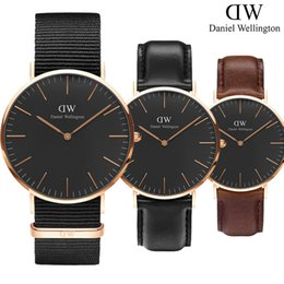 Wholesale Black Femme - New Men Daniel Wellington watches DW 40mm Men watches 36 Women Watches Luxury Brand Famous Quartz Wrist Watch Female Relogio Montre Femme