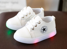 Wholesale C Child - Spring autumn Kids Canvas Light up shoes Net Breathable Boys Fashion Sneakers Chaussure Led Enfant Sport Running Boy Girls Children Shoes