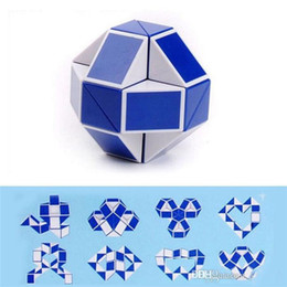 Wholesale intelligence games kids - Creative Magic Snake Shape Toy Game 3d Cube Puzzle Twist Puzzle Toy Gift Random Intelligence Toys Educational Puzzle Magic b936