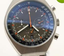 Wholesale Moon Watch Luxury - New Moon Watch 45.5MM Mens Watches Quartz Chronograph Movement Agent 007 Favorits Folding Button World Famous Brand