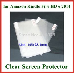 Wholesale Screens For Kindle Fire - Wholesale- 3pcs Transparent Clear Screen Protector Protective Film for Amazon Kindle Fire HD 6 2014 NO Retail Package