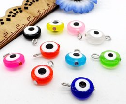 Wholesale Flowers Crafts - 500Pcs lot mixed Hamsa EVIL EYE Kabbalah Luck Charms Pendant For Jewelry Making Craft 17x11mm