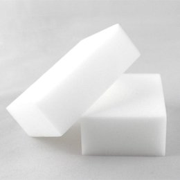 Wholesale 100Pcs Magic Sponge White Melamine Sponge Eraser For keyboard Car kitchen Bathroom Cleaning Melamine Clean High Desity x6x2cm