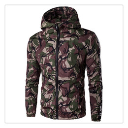 Wholesale Camouflage Jacket Men Winter - Jackets for Men Autumn&winter Fashion Camouflage Waterproof and Sun Proof Men's Casual Sports Hooded Jackets US Size:XS-3XL