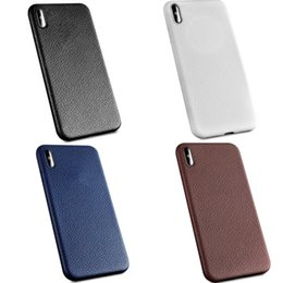 Wholesale Stripped Iphone Case Tpu - For Iphone X Slim Tpu Leather Phone Cases i8 Soft Litchi Peel Texture Strips Protective Cover For iphone8 7 7plus 6 6s Plus 5 Case