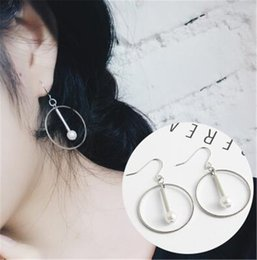 Wholesale Pearl Wholsale - Wholsale Silver Elegant Round Simulated Pure Love Pearl Drop Earrings for Women Fine Jewelry R002