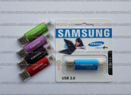 Wholesale Capacity Usb Drive 256gb Real - DHL shipping 128GB 256GB 512GB 1TB 2TB Samsung OTG usb flash drive USB3.0 pendrive Real capacity OTG flash Memory stick OTG U disk
