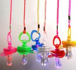 Wholesale Toys Pacifier Flashing - Dhl Free Shipping 500pcs LED Flashing Pacifier Whistle Party Supplies Fun Toy Survival Tool Flash Glow Sticks Bar