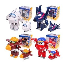 Wholesale Action Figure Sales - Best sale!!!Big Size 15CM New styles Super Wings Deformation Airplane Action Figures Transformation robot toys for children gift Brinquedos