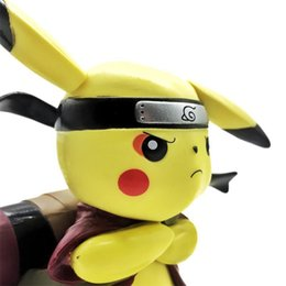 Wholesale Figure Japan - Deadpool Action Figure Pikachu Cosplay Deadpool Collectible Model Toy Pikachu Superhero Toys Pikachu Cos Naruto For Christmas gift