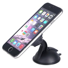 Wholesale Dashboard Windshield Car Mount - Universal Magnet Magnetic Car Dashboard Mount Phone Holder Windshield Suction Cup Rotatable Stand Holder for iphone Samsung Cell phone GPS
